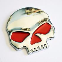 Acessório Emblema Metal Caveira Brasão Moto Harley Davidson