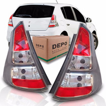 Lanterna Traseira Renault Sandero Cinza 2012 2013 2014 Depo