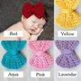 Cintillos De Bebe Con Lazo Tejido A Crochet
