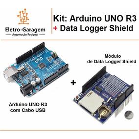 Kit Arduino Uno + Data Logger Shield