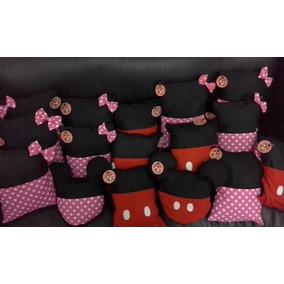 10 Souvenirs Almohadones Porta Pijama Mickey Y Minnie Minion