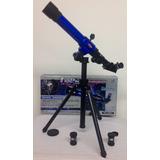Telescopio Real Infantil Con Trípode Y Tres Lentes 8 Años +