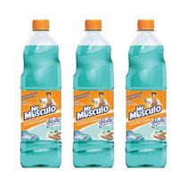 Mr Musculo Limpiapisos Glade Paraiso Azul X3
