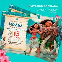 Diseño Invitación Para Cumpleaños Disney Moana