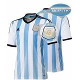 Camisa Sel. Argentina, Copa 2014, Azul/branca 100% Original!