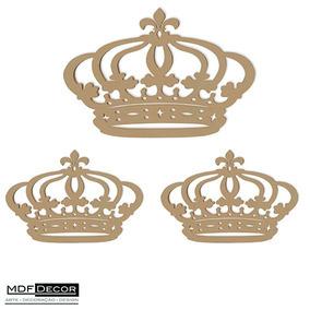 Kit 3 Coroas De Mdf 1 - 60cm E 2 - 20 Cm Decoração De Festas