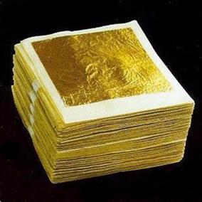 10 Hojas De Oro Genuino 24k Comestible