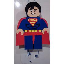 Piñata Infantil De Súperman Lego Y Muchas Mas
