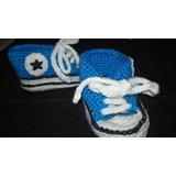 Zapatillas Escarpines Tejidos Al Crochet