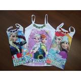 Blusinhas Infantil Enfeite Coração Personage Princesa Kit 10