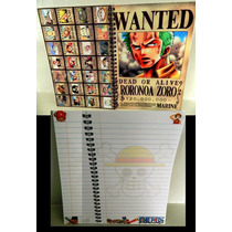 Libreta One Piece Zoro Nami Nico Robin Chopper Cuaderno