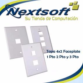 Tapa 4x2 Faceplate 1pto 2pto Y 3pto Keystone Jacks Nextsoft