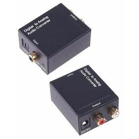 Adaptador Conversor Ótico Toslink E Coaxial Digital Para Rca
