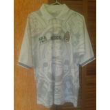 Camisa Mexico Aba Sport Copa 1998 Franca Branca Rara Nova