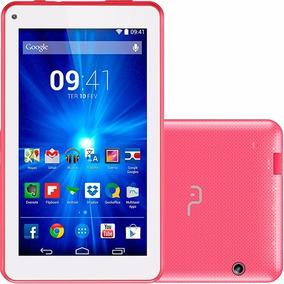 Tablet Quad Core Tela 7 8gb Rosa Android Wifi Câmera E Mais