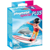 Playmobil 5372 - Surfista Con Tabla De Surf Y Delfín