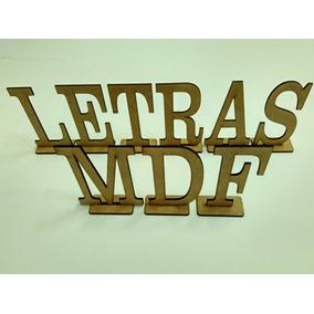Letras Em Mdf Cru A Partir De R$1,00 - Unidade