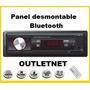Radio Auto Bluetooth Mp3 Usb Sd Aux Panel Desmontable