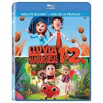 Blu Ray Dvd Combo Lluvia De Hamburguesas Parte 1 Y 2 Tampico