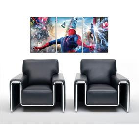 Triptico Spiderman - 3 Cuadros Impresos En Madera Marvel