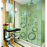 Adesivo Decorativo Parede Vidro Banheiro Bolhas De Sabão