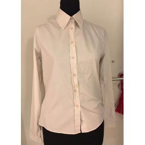Camisa De Vestir Oficina Mujer Chocolate Color Blanca Small