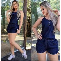 Macaquinho Jeans F322 Enviamos Em 28 Dias!!!