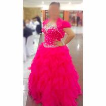 Vestido Pink Debutante, Lindo Importado - Pronta Entrega