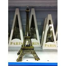 Torre Eiffel De Metal 25cm X 15 Unidades.