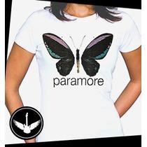 Camiseta Paramore Ou Baby Look Banda Rock Blusa Camisa