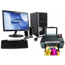 Computadora Completa Con Lcd 19+impresora Multifuncion+wifi!