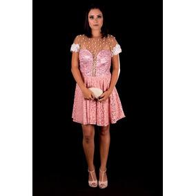 Vestido Curto Rosa/debutante/15 Anos/civil/ Pronta Entrega