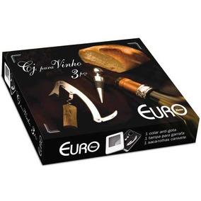 Conjunto Abridor Para Vinho 3 Peças -euro