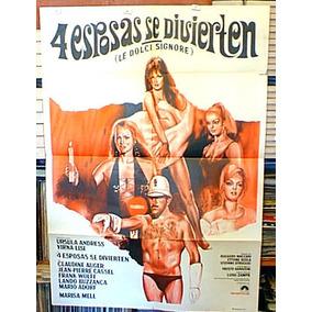 Ursula Andress Virna Lisi C Auger Afiche Cine Orig 1968 M308