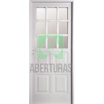 Aberturas: Puerta Doble Chapa Inyectada Nexo 1/2 Reja