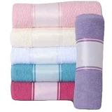 10 Toalhas De Lavabo Colorida Com Barra P Sublimação