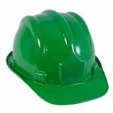 Capacete Segurança Com Carneira Proteção Epi Obra Cor Verde