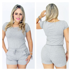 Conjunto Feminino Blusa + Shorts P.m.g Frete Grátis Brasil