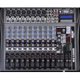 Consola De Sonido Moon Mc12 Usb 12 Canales Mixer Efectos Ecc