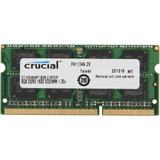 Memoria Crucial Ct102464bf160b, 8gb, Ddr3, Sodimm, 1600 Mhz,