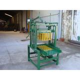 Máquina De Fabricar Tijolo De Bloco C/ 2 Formas + Motor 3 Cv