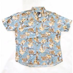 Camisa Hawaiana Tropical Pesca Hombre Talle Xl