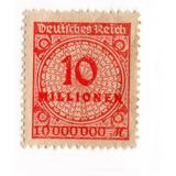 Deutsches Reich 1923 Hyperinflation 10 Millionen Mark