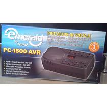 Regulador De Voltaje Emerald 8 Tomas,televisor Y Computadora