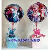 Balão Frozen, Enfeite De Mesa Kit Completo C/ 20 Unidades