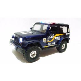 Jeep Patrulla Policia D.f. Con Luces Esc. 1:24