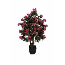 Flores Artificiais Azaleia Artificial Em Vaso Com 76 Cm