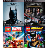 4 Juegos Ps3 Injustice, Batman Origins Lego Marvel .:ordex: