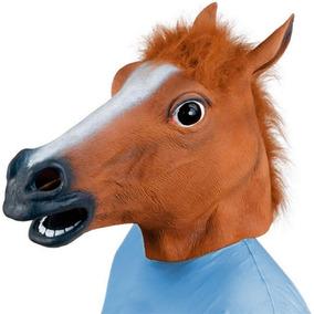 Máscara De Cavalo Látex Cosplay - Pronta Entrega