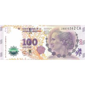 Billete Argentina $100 Nueva Serie Ca Sin Circular Palermo